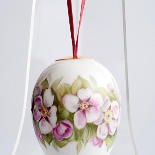 Яйцо пасхальное подвесное «Яблоневый цвет». Великая фарфоровая мануфактура KPM Berlin