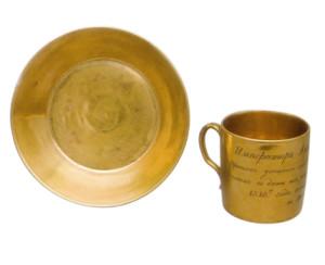 позолченная чашка александра 1