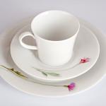 """Фарфоровый набор для завтрака на одну персону Pianta """"Полевые цветы"""", клематис альпийский, латук голубой. KPM Berlin"""