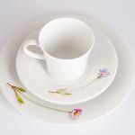 Фарфоровый набор для завтрака на одну персону Pianta «Полевые цветы», барвинок малый, маргаритка. KPM Berlin