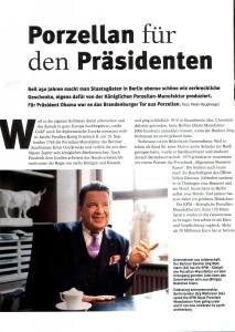 Берлинский банкир Й. Вольтман спас KPM, Berlin от разорения
