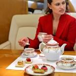 Завтрак на борту Lufthansa