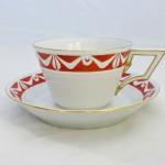 Фарфоровая мужская чашка Kurland для офиса (бюро), английский красный