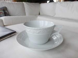 Фарфоровая чайная чашка Büro-Tasse KURLAND, KPM Berlin, на которую будет наноситься монограмма