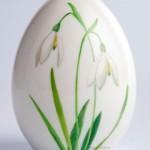 Пасхальное яйцо KPM Berlin. Декор Подснежники, полихромная живопись.