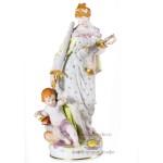Фарфоровая фигура (скульптура) Юстиция (Правосудие), натуралистический стаффаж. Великая фарфоровая мануфактура KPM Berlin