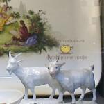 Фигурка (статуэтка) фарфоровая на подставке «Козлик». KPM Berlin