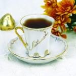 Кофейная чашка с посвящением, мануфактура Гарднер, Россия