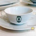 Чашка для супа URANIA. Фамильный герб. Литография
