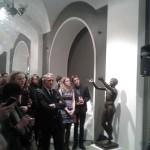 Посол ФРГ в России господин Рюдигер фон Фрич (в центре) открывает выставку мануфактур Германии