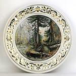 Фарфоровая настенная тарелка «Дебри». Мануфактуры Гарднеръ, Вербилки