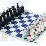 Фарфоровые шахматы «Кобальтовые». Мануфактура Гарднеръ в Вербилках