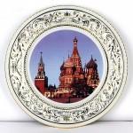 Фарфоровая настенная тарелка декоративная «Москва. Кремль», 31 см. Мануфактуры Гарднеръ, Вербилки