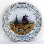 Фарфоровая настенная тарелка «Псовая охота». Мануфактуры Гарднеръ, Вербилки