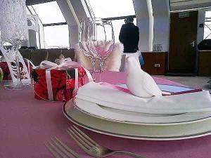 Фарфор и голуби. Презентация оформления свадебного стола. Арарат Хаятт, Москва