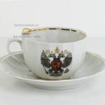 Фарфоровая чайная чашка «Герб России». Мануфактура Гарднеръ в Вербилках
