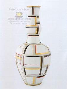 Китайская ваза в качестве подставки для лампы. KPM Berlin, форма 1855 г., декор 1926