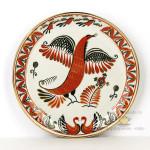 Фарфоровая настенная тарелка «Жар-птица». Промыслы Вербилок