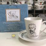 Фарфоровый бокал с блюдцем «Чайковский» с возможностью дарственной надписи. Мануфактура Гарднеръ в Вербилках