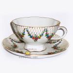 Фарфоровая чайная чашка «Английский сад», новый дизайн. Мануфактура Гарднеръ в Вербилках