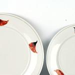 """Тарелка большая мелкая """"Маки"""" d24 см, 146 руб/сут"""