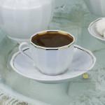 Фарфоровая кофейная чашка «Золотая лента». Мануфактура Гарднеръ в Вербилках