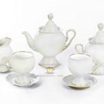 Фарфоровый чайно-кофейный сервиз «Белое золото». Мануфактуры Гарднеръ в Вербилках