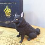 Фарфоровая фигурка (статуэтка) «Черная собака», бисквит, шкатулка. Музейная копия Гарднеровского периода 18-го века. Мануфактуры Гарднеръ, Вербилки