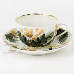 Фарфоровая чайная чашка «Горюн-трава», художественная роспись. Мануфактуры Гарднеръ в Вербилках