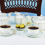 Фарфоровый чайный сервиз «Солнечный дождь». Мануфактура Гарднеръ в Вербилках